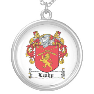 Leahy Family Crest Personalized Necklace