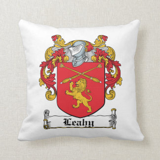 Leahy Family Crest Throw Pillow