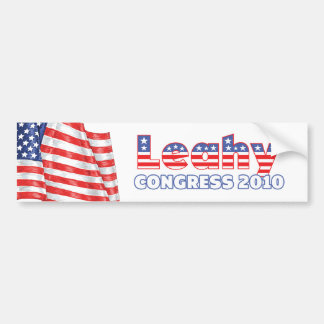 Leahy Patriotic American Flag 2010 Elections Bumper Sticker