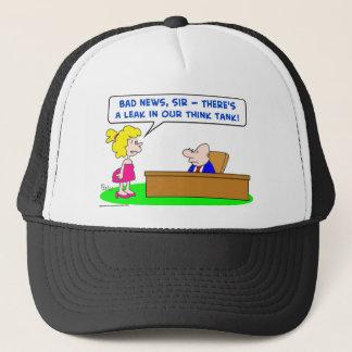 leak think tank trucker hat