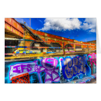 Leake Street and Police Car Greeting Card