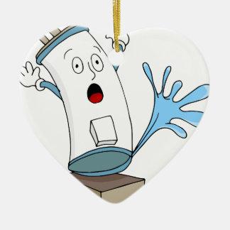 Leaking Water Heater Cartoon Ceramic Ornament