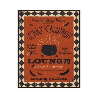 Leaky Cauldron Lounge Mason Halloween Art Canvas Print