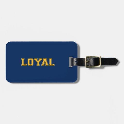 LEAL en equipo colorea azules marinos y el oro Etiquetas Maletas