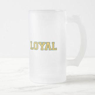 LEAL en equipo colorea blanco, verde y el oro Taza De Cristal