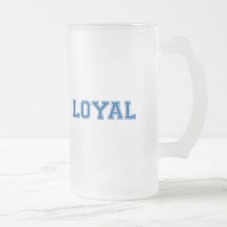 LEAL en equipo colorea blanco y el azul Taza De Cristal