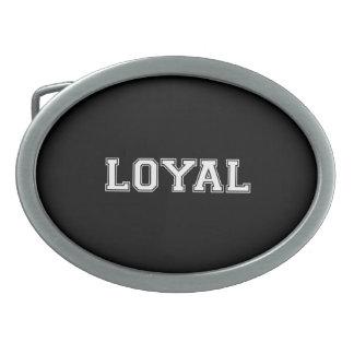 LEAL en equipo colorea blanco y negro Hebilla De Cinturon Oval