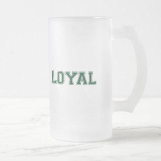LEAL en equipo colorea blanco y verde Taza De Cristal