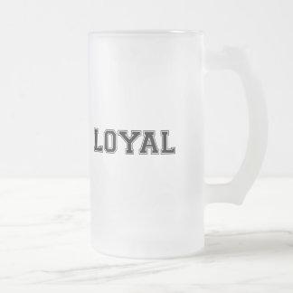 LEAL en equipo colorea el negro, blanco Taza De Cristal