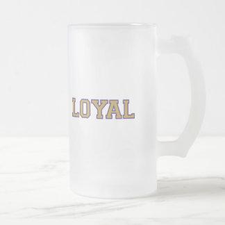 LEAL en equipo colorea el oro y la púrpura Taza De Cristal