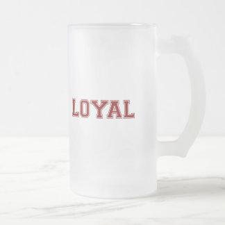 LEAL en equipo colorea el rojo marrón Taza De Cristal