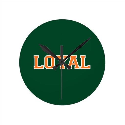 LEAL en equipo colorea el verde, naranja, blanco Relojes De Pared