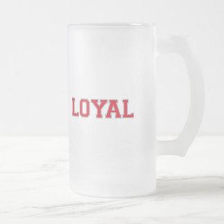 LEAL en equipo colorea escarlata y gris Taza De Cristal