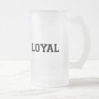 LEAL en equipo colorea la plata y el negro Taza De Cristal