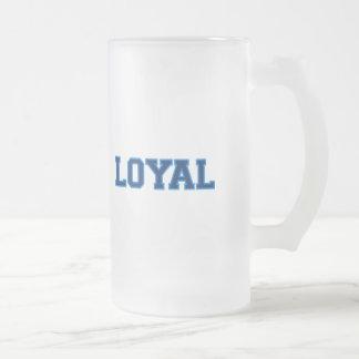 LEAL en equipo colorea oscuro y azul claro Taza De Cristal