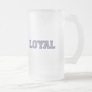 LEAL en equipo colorea púrpura real y gris Taza De Cristal