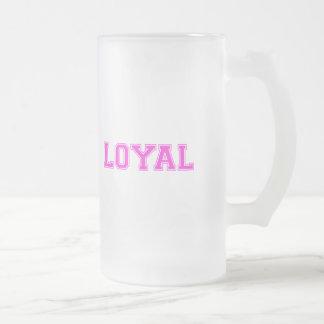 LEAL en equipo colorea rosa brillante Taza De Cristal