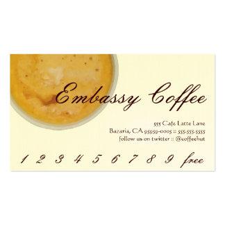 Lealtad de la bebida del café de la tarjetas de visita