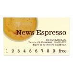 Lealtad de la bebida del café de las tarjeta de visita