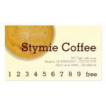 Lealtad de la bebida del café del Stymie/tarjeta Tarjetas De Negocios
