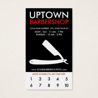 lealtad de la parte alta de la barbería tarjetas de visita