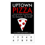 lealtad de la parte alta de la pizza tarjetas de visita