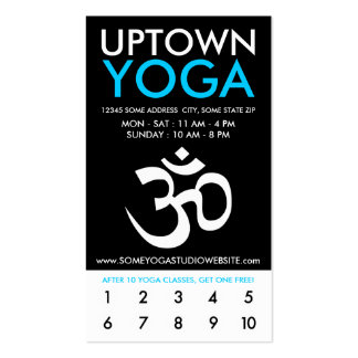 lealtad de la parte alta de la yoga de OM Tarjeta Personal