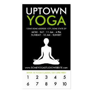 lealtad de la parte alta de la yoga tarjetas de visita