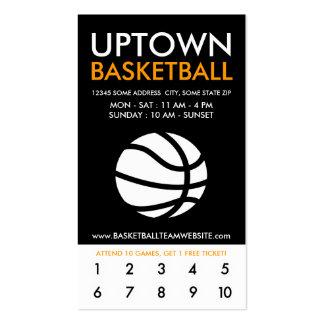 lealtad de la parte alta del baloncesto tarjeta de visita