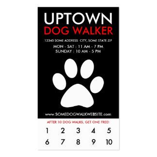 lealtad de la parte alta del caminante del perro tarjetas de visita