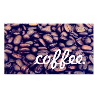 lealtad del café tarjetas de visita