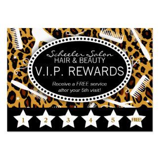 Lealtad del salón del estampado leopardo tarjeta de visita