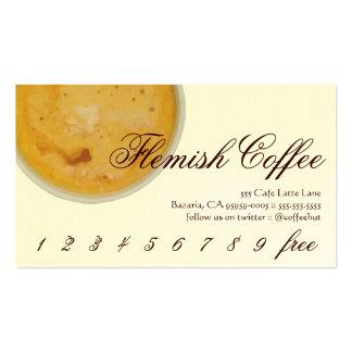 Lealtad flamenca de la bebida del café/tarjeta de tarjetas de visita