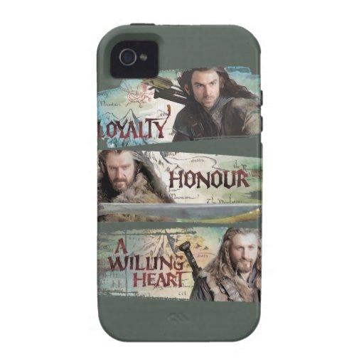 Lealtad, honor, un corazón dispuesto carcasa Case-Mate para iPhone 4