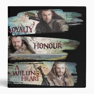"""Lealtad, honor, un corazón dispuesto carpeta 1 1/2"""""""