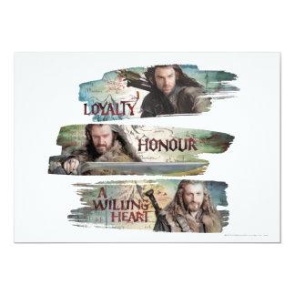 Lealtad, honor, un corazón dispuesto invitación 12,7 x 17,8 cm