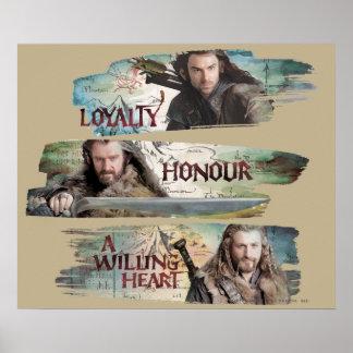 Lealtad, honor, un corazón dispuesto posters
