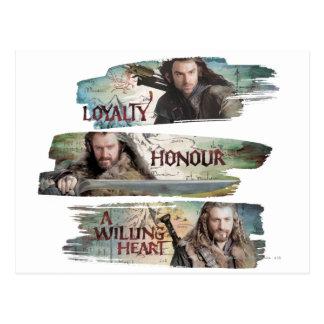 Lealtad, honor, un corazón dispuesto postal