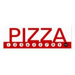lealtad intrépida del cliente de la PIZZA Plantillas De Tarjetas Personales