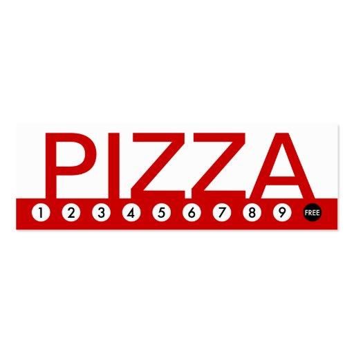 lealtad intrépida del cliente de la PIZZA Tarjetas De Visita Mini
