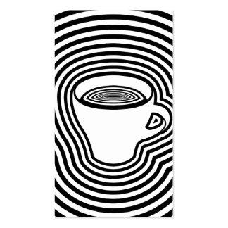 lealtad mareada del café tarjetas de visita