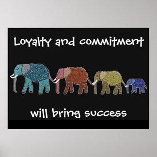 Lealtad y compromiso MotivationalPoster Poster