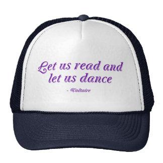 Leamos y bailemos gorras de camionero