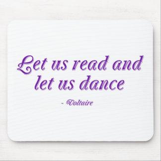 Leamos y bailemos tapetes de ratón