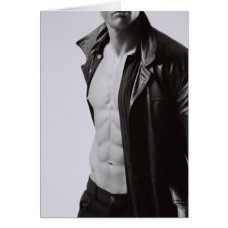 Lean Abs Notecard #2 Greeting Cards