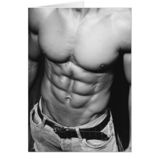 Lean Abs Notecard Greeting Cards
