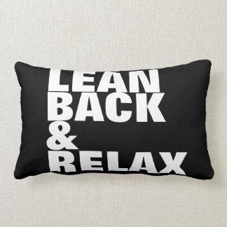 lean back & relax / good vibes only lumbar pillow