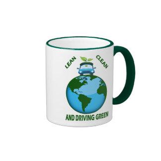 LEAN CLEAN & DRIVING GREEN RINGER MUG