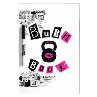Lean Girls Burn Book Dry-Erase Board