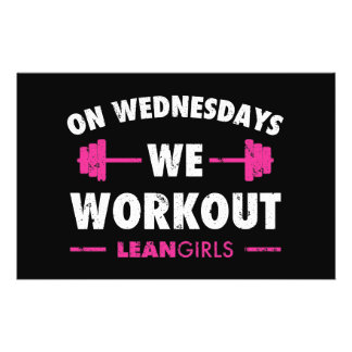 Lean Girls On Wednesdays We Workout Flyer